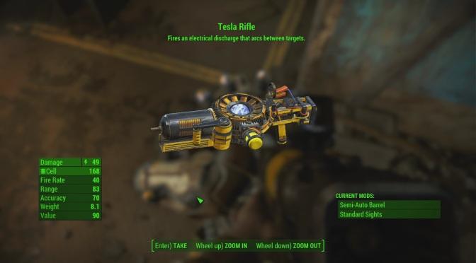 Fallout 4 – Automatron – Legendary Tesla Armor & Rifle